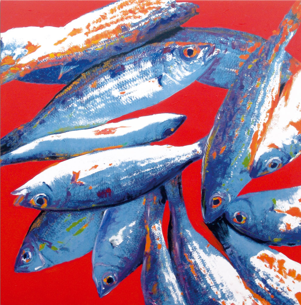 Fish in red